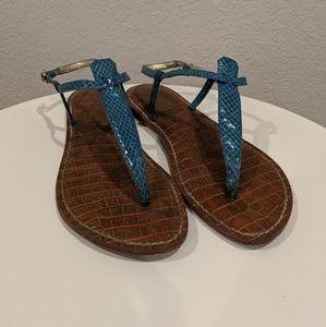 Sam Edelman Gigi Leather Sandals - Turqouise